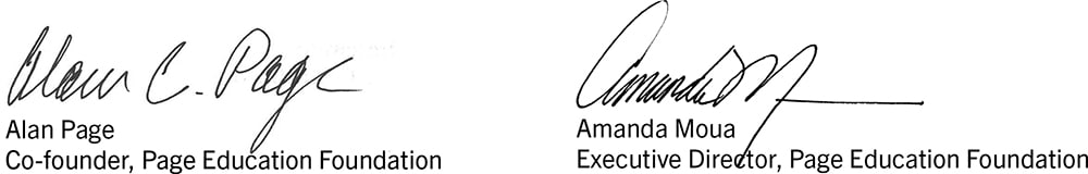Alan and Amanda combined signatures with titles version SMALL